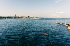 划船在巴塞罗那 免版税库存图片