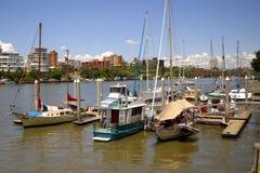 划船城市 库存图片