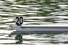 划船小船的弓 免版税库存图片