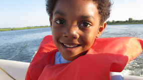 划船男孩 库存图片