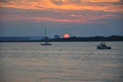 划船的完美的日子 免版税库存照片