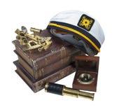 划船预定Hat Sextant Telescope上尉 库存图片