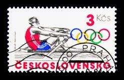划船,奥运会1984年-洛杉矶serie,大约1984年 图库摄影
