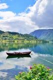 划艇在Ulvik,挪威 图库摄影