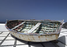 划艇-圣托里尼-希腊 图库摄影
