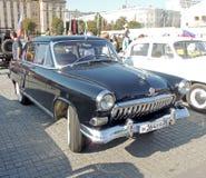 系列两黑颜色的GAZ M21伏尔加河 库存照片