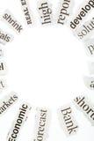 列为头条新闻报纸 免版税库存图片