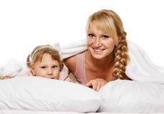 系列使用 女儿小母亲 库存照片