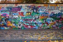 列侬墙壁布拉格 库存图片