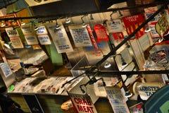 列克星敦市场Faidley的海鲜 库存图片