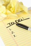 列出 免版税图库摄影