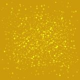Golden shiny background.Gold sequins background. The golden sparkle on the border of the love shape. royalty free illustration