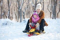 系列在冬天公园 图库摄影