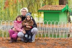 系列在秋天公园 免版税图库摄影