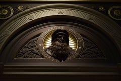 列奥纳多・达・芬奇的图象在伦敦里面国家美术馆的  图库摄影