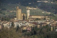 列奥纳多・达・芬奇` s镇在托斯卡纳意大利 库存照片