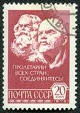 列宁・马克思邮费显示印花税 图库摄影