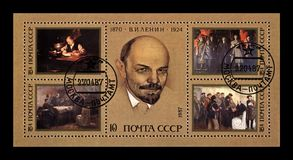 列宁弗拉基米尔(Uliyanov), 1870-1924,著名政客无产阶级领导,苏联,大约1987年, 库存图片