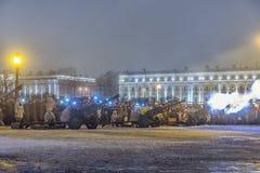 列宁格勒的天解放从法西斯主义的封锁的1944年 免版税库存照片