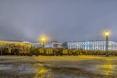 列宁格勒的天解放从法西斯主义的封锁的1944年 免版税图库摄影