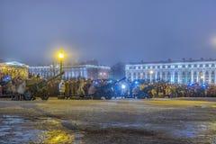 列宁格勒的天解放从法西斯主义的封锁的1944年 库存照片