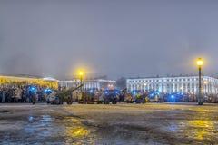 列宁格勒的天解放从法西斯主义的封锁的1944年 库存图片