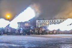 列宁格勒的天解放从法西斯主义的封锁的1944年 免版税库存图片