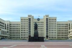 列宁白俄罗斯共和国,分钟的纪念碑和香港礼宾府 图库摄影