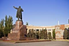 列宁纪念碑向伏尔加格勒 免版税库存图片