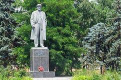 列宁纪念碑在Skadovsk镇  免版税库存图片