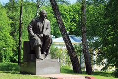 列宁纪念碑,高尔基Leninskiye,莫斯科地区 库存照片