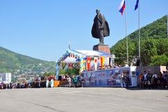 列宁纪念碑 库存照片