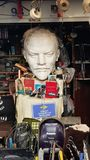列宁胸象在跳蚤市场上 免版税库存照片