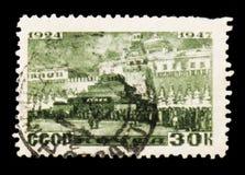 列宁陵墓,大约1947年 免版税库存图片
