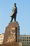 列宁雕象在哈尔科夫 免版税图库摄影