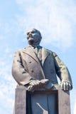 列宁,米斯克雕象  免版税库存图片