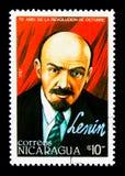 列宁(1870-1924),俄国Octo的第70周年 库存图片
