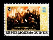 列宁(1870-1924), 10月Revo的第60周年 免版税库存图片