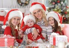 系列帽子圣诞老人 库存图片