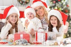 系列帽子圣诞老人 免版税库存照片