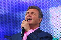 列弗Leschenko —苏联和俄国歌手,软,长篇低男中音,男性天鹅绒口气 免版税库存照片