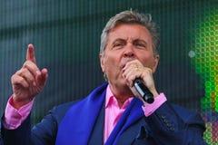 列弗Leschenko —苏联和俄国歌手,软,长篇低男中音,男性天鹅绒口气 免版税库存图片