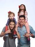 系列愉快的讲西班牙语的美国人 免版税图库摄影