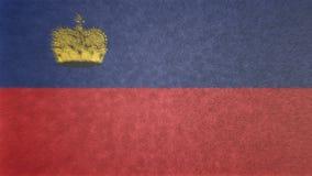 列支敦士登的旗子的原始的纹理3D图象 免版税库存照片