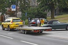 列支敦士登-瓦杜兹-拖车服务 免版税库存照片