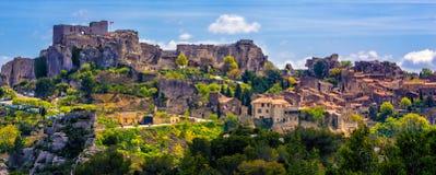 列斯Baux de普罗旺斯村庄,普罗旺斯,法国 免版税图库摄影