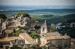 列斯Baux de普罗旺斯村庄,法国 免版税库存图片