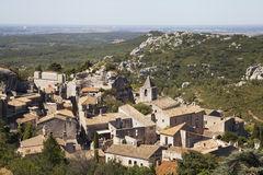 列斯Baux de普罗旺斯村庄  库存照片