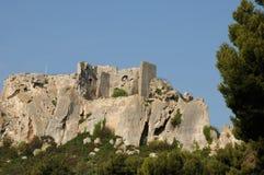 列斯Baux de普罗旺斯的典型的风景 库存图片