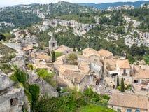 列斯Baux de普罗旺斯,法国村庄  免版税库存图片